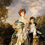 John Singer Sargent - The Countess of Warwick and Her Son