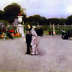John Singer Sargent - The Luxembourg Garden at Twilight