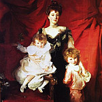 John Singer Sargent - Mrs. Cazalet and Children, Edward and Victor