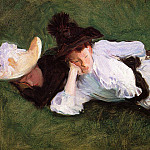 Two Girls Lying on the Grass, John Singer Sargent