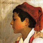Head of a Neapolitan Boy in Profile, John Singer Sargent