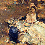 The Pink Dress, John Singer Sargent
