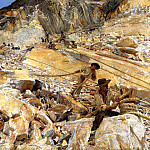 John Singer Sargent - Bringing Down Marble from the Quarries to Carrara