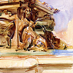 The Great Fountain of Bologna, John Singer Sargent