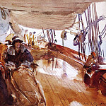 Rainy Day on the Deck of the Yacht Constellation, John Singer Sargent