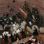 Rehearsal of the Pas de Loup Orchestra at the Cirque d'Hiver, John Singer Sargent