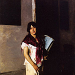 Italian Girl with Fan, John Singer Sargent