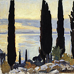 John Singer Sargent - Cypress Trees at San Vigilio