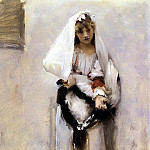 John Singer Sargent - A Parisian Beggar Girl(also known as Spanish Beggar Girl)
