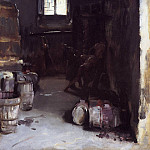 Pressing the Grapes. Florentine Wine Cellar, John Singer Sargent