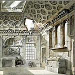 part 06 Hermitage - Klerisso, Charles-Louis - Sketch for painting the west side of the room-ruins