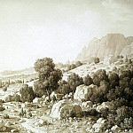 Kyugelgen, Karl von – View of the valley near the village of Mshatka, part 06 Hermitage