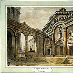Klerisso, Charles-Louis – The lobby of the palace of Emperor Diocletian in Split, part 06 Hermitage