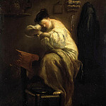 Crespi, Giuseppe Maria – A woman searching flea, part 06 Hermitage