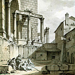 Klerisso, Charles-Louis – View of the Temple of Jupiter in the palace of Diocletian at Spalato, part 06 Hermitage