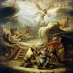Cape, Benjamin Gerritsen – Annunciation to the shepherds, part 06 Hermitage