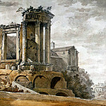 Klerisso, Charles-Louis – Temple of Sibyl in Tivoli , part 06 Hermitage