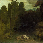 Courbet Gustave – Landscape with dead horse, part 06 Hermitage