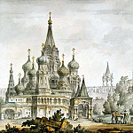 part 06 Hermitage - Quarenghi, Giacomo - Pokrovsky Cathedral and Spassky Tower in Moscow