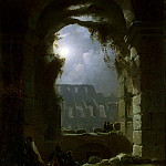 Carus, Carl Gustav – View Colosseum at night, part 06 Hermitage