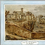 Klerisso, Charles-Louis – View of the Church of San Giovanni e Paolo in Rome, part 06 Hermitage