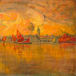 Kotte, Charles – View of Venice from the sea, part 06 Hermitage