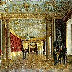 part 06 Hermitage - Krendovsky, F. Eugraph - Types of rooms of the Winter Palace. The Throne Room of Empress Maria Feodorovna