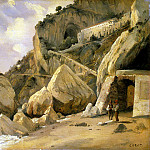 Corot, Jean-Baptiste Camille – Rocks in Amalfi, part 06 Hermitage