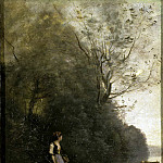 part 06 Hermitage - Corot, Jean-Baptiste-Camille - Peasant, grazing cows at the edge of the forest