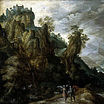 Keynink, Kerstian de – Landscape with Tobias and the Angel, part 06 Hermitage