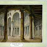 Klerisso, Charles-Louis – The interior of the church of San Stefano Rotondo in Rome, part 06 Hermitage