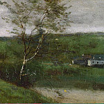 Corot, Jean-Baptiste Camille – Landscape with a boy in a white shirt, part 06 Hermitage