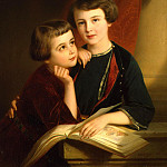 Portrait of the sons of Prince Gorchakov, Nicaise de Keyser
