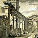 Klerisso, Charles-Louis – The lobby of the palace of Emperor Diocletian in Split , part 06 Hermitage