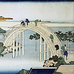Katsushika Hokusai – The bridge near the temple Kameydo Tenzin, part 06 Hermitage