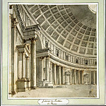 Klerisso, Charles-Louis – Interior of the Pantheon in Rome, part 06 Hermitage