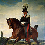 Kruger Franz – Portrait of Frederick William III on horseback, part 06 Hermitage