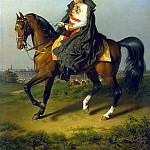 Kraft, Peter Johann – Portrait of Francis I on horseback, part 06 Hermitage