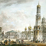 Quarenghi, Giacomo – Cathedral Square in the Moscow Kremlin, part 06 Hermitage