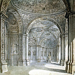 Klerisso, Charles-Louis – View of the lobby villa Madama, part 06 Hermitage