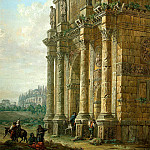 Klerisso, Charles-Louis – Arch of Constantine in Rome, part 06 Hermitage