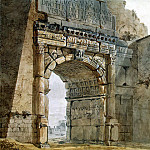 Klerisso, Charles-Louis – Arch of Titus in Rome, part 06 Hermitage