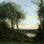 Corot, Jean-Baptiste Camille – Evening, part 06 Hermitage