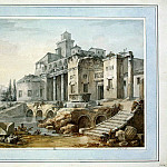 part 06 Hermitage - Klerisso, Charles-Louis - A country house in ancient ruins, in