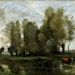 Corot, Jean-Baptiste Camille – Trees in the swamps, part 06 Hermitage