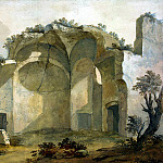Klerisso, Charles-Louis – Ruins of one of the buildings of the villa of Emperor Hadrian in Tivoli, part 06 Hermitage
