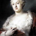 Carriera, Rosalba – Portrait of a young lady in a dress, trimmed with fur, part 06 Hermitage