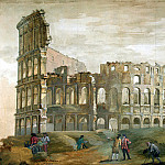 Klerisso, Charles-Louis – View of the Colosseum in Rome , part 06 Hermitage
