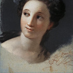 Carriera, Rosalba – Female Head with ribbon and laurel leaves in her hair, part 06 Hermitage
