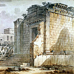Klerisso, Charles-Louis – Temple of Aesculapius in Diocletians Palace in Spalato, part 06 Hermitage